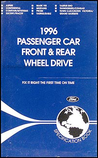 1996 Ford Lincoln Mercury Service Specifications Book Original
