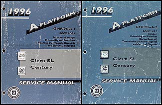 1996 Ciera SL & Century Repair Manual Original 2 Volume Set