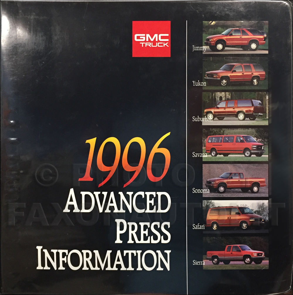 1996 GMC Advanced Press Kit Original