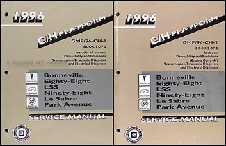 1996 Bonneville, 88, LSS, 98, Le Sabre, Park Avenue Repair Shop Manual Set