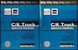 1996 CK 1500-3500 Repair Shop Manual Orig. Set Pickup Suburban Tahoe Yukon