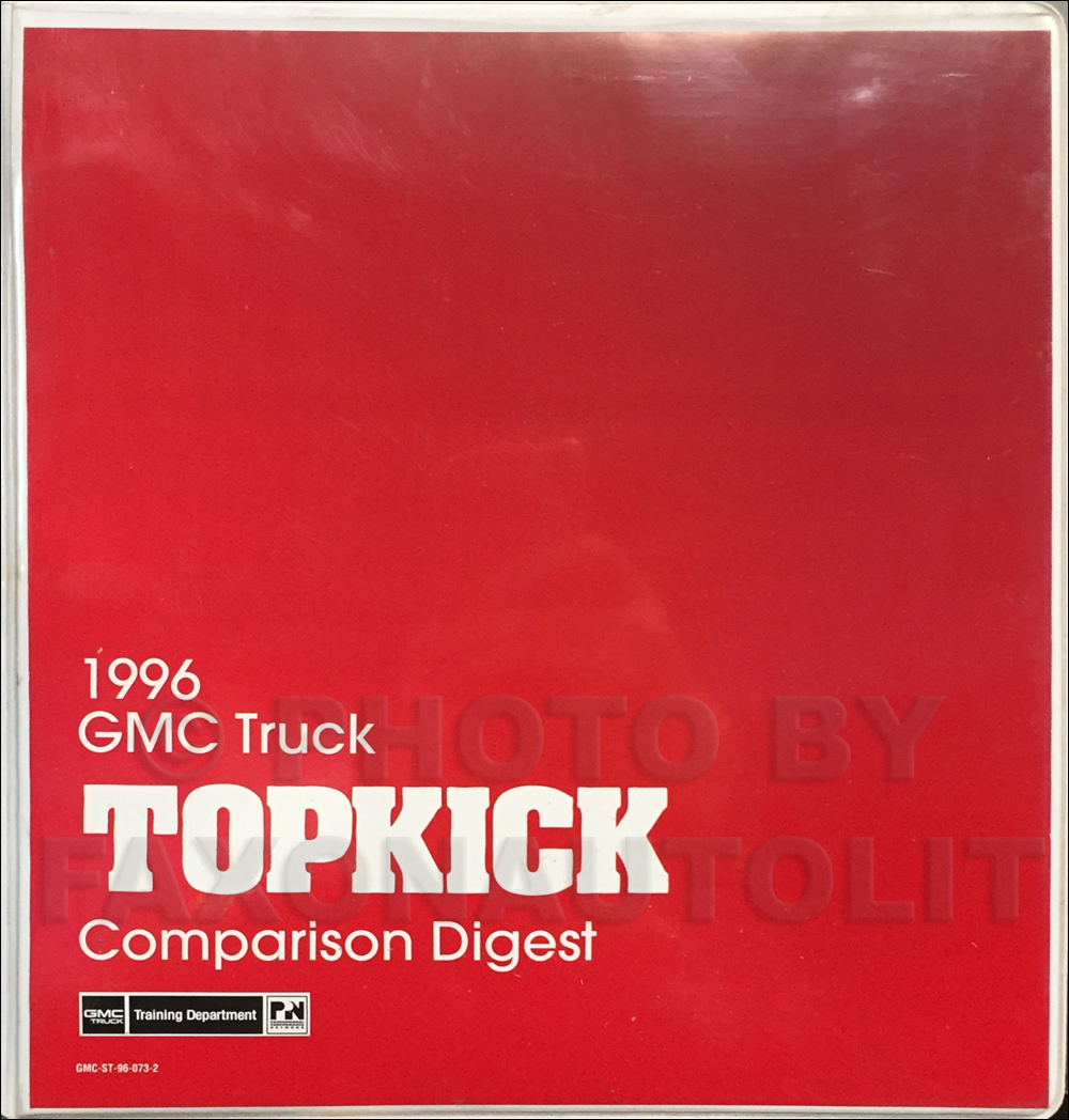 1996 GMC Topkick Competitive Comparison Dealer Album Original