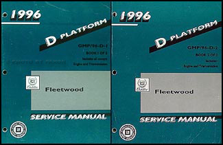 1996 Cadillac Fleetwood Repair Manual Original 2 Volume Set