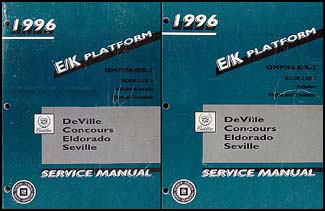 1996 Deville, Concours, Eldorado, Seville Repair Shop Manual Original Set of 2