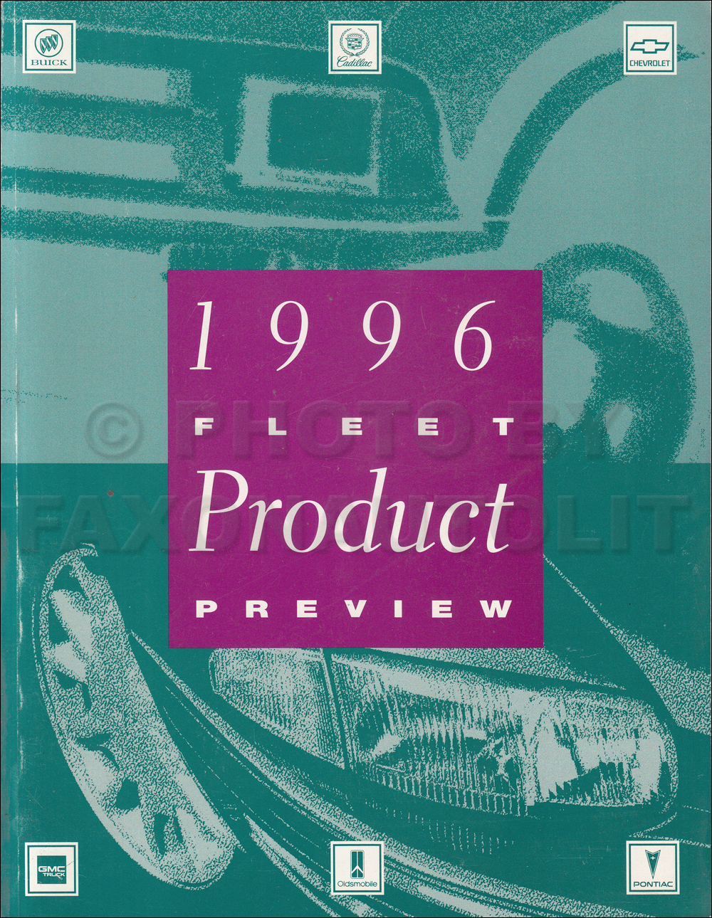 1996 General Motors Fleet Product Preview Dealer Album Original