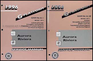 1996 Olds Aurora & Buick Riviera Repair Manual Original 2 Volume Set