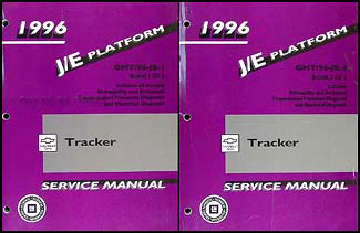 1996 Chevy/Geo Tracker Repair Manual Original 2 Volume Set