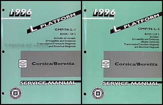 1996 Chevrolet Corsica & Beretta Repair Shop Manual Original 2 Volume Set