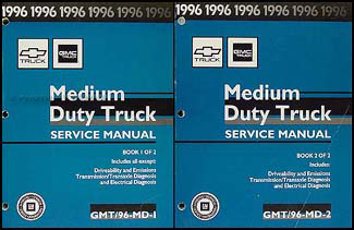 1996 Topkick, Kodiak, B7, P6 Truck Repair Manual Original 2 Volume Set
