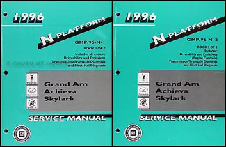 1996 Grand Am/Achieva/Skylark Repair Manual Original 2 Volume Set