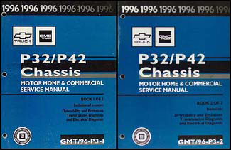 1996 P32 & P42 Stepvan & Motorhome Chassis Repair Shop Manual Set Original