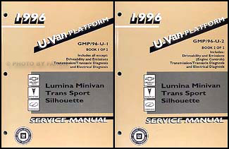 1996 Lumina Minivan/Trans Sport/Silhouette Repair Shop Manual Original Set