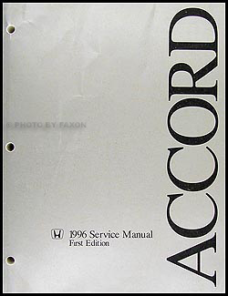 1996 Honda Accord Repair Manual Original