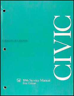 1996 Honda Civic Repair Manual Original