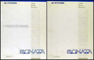 1996 Hyundai Sonata Shop Manual Original 2 Volume Set