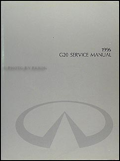 1996 Infiniti G20 Repair Manual Original