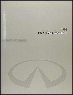 1996 Infiniti J30 Repair Manual Original