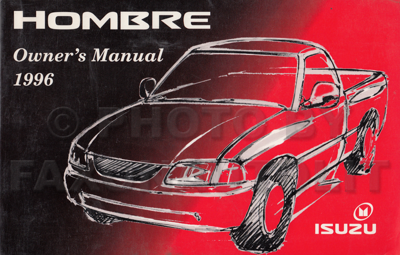 1996 Isuzu Hombre Pickup Truck Owner's Manual Original