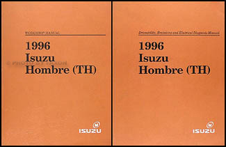 1996 Isuzu Hombre Repair Shop Manual Set Original