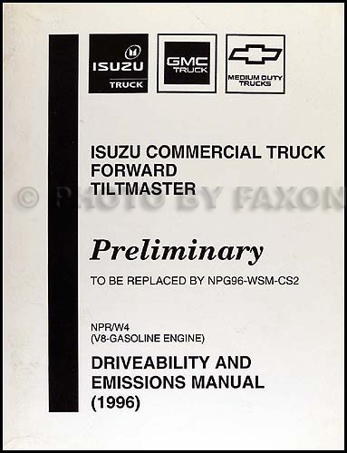 1996 NPR & W4 Gas Fuel & Emissions Preliminary Manual Original