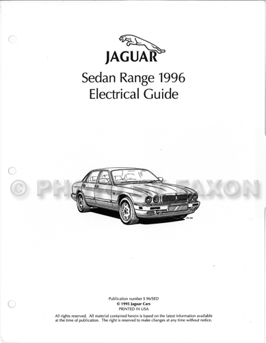 1996 Jaguar XJ6 XJ12 Electrical Guide Wiring Diagram Factory Reprint