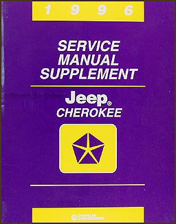 1996 Jeep Cherokee Repair Manual Supplement Original