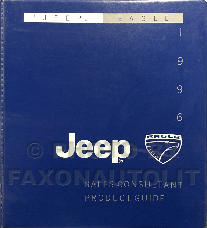 1996 Jeep/Eagle Sales Consultant Product Guide Original