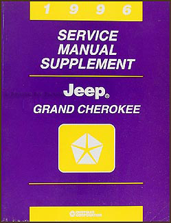 1996 Jeep Grand Cherokee Repair Manual Supplement Original