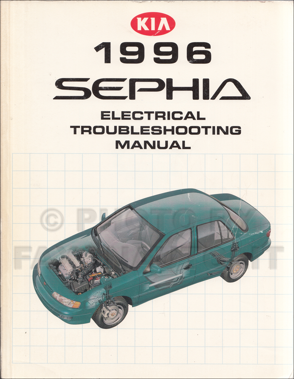 1996 Kia Sephia Electrical Troubleshooting & Vacuum Routing Manual