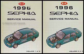 1996 Kia Sephia Repair Manual 2 Volume Set Original