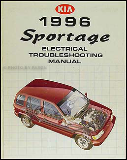 1996 Kia Sportage Repair Shop Manual Set Original 96