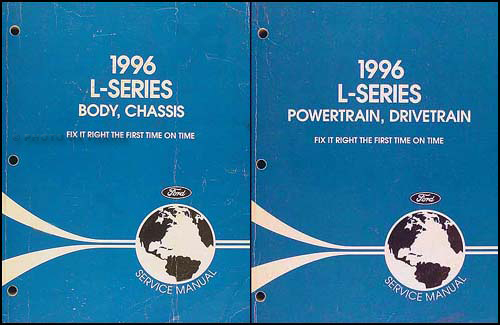 1996 Ford L-Series 8000, 9000 Repair Manual Original 2 Volume Set