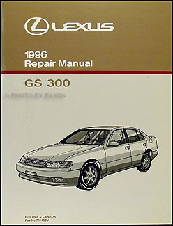 1996 Lexus GS 300 Repair Manual Original