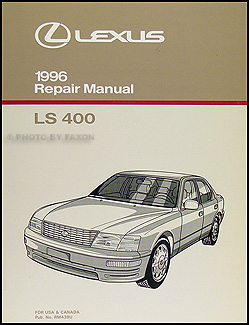 1996 Lexus LS 400 Repair Manual Original
