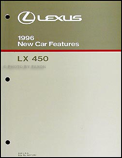 1996 Lexus LX 450 Features Manual Original