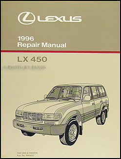 1996 Lexus LX 450 Repair Manual Original
