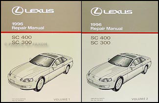 1996 Lexus SC 300 and 400 Repair Shop Manual Original Set SC300 SC400