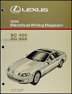 1996 Lexus SC 300/400 Wiring Diagram Manual Original