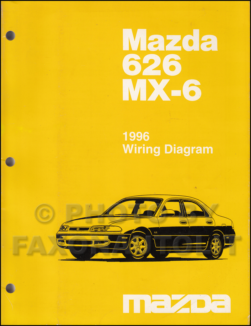 1996 Mazda 626 and MX-6 Wiring Diagram Manual Original