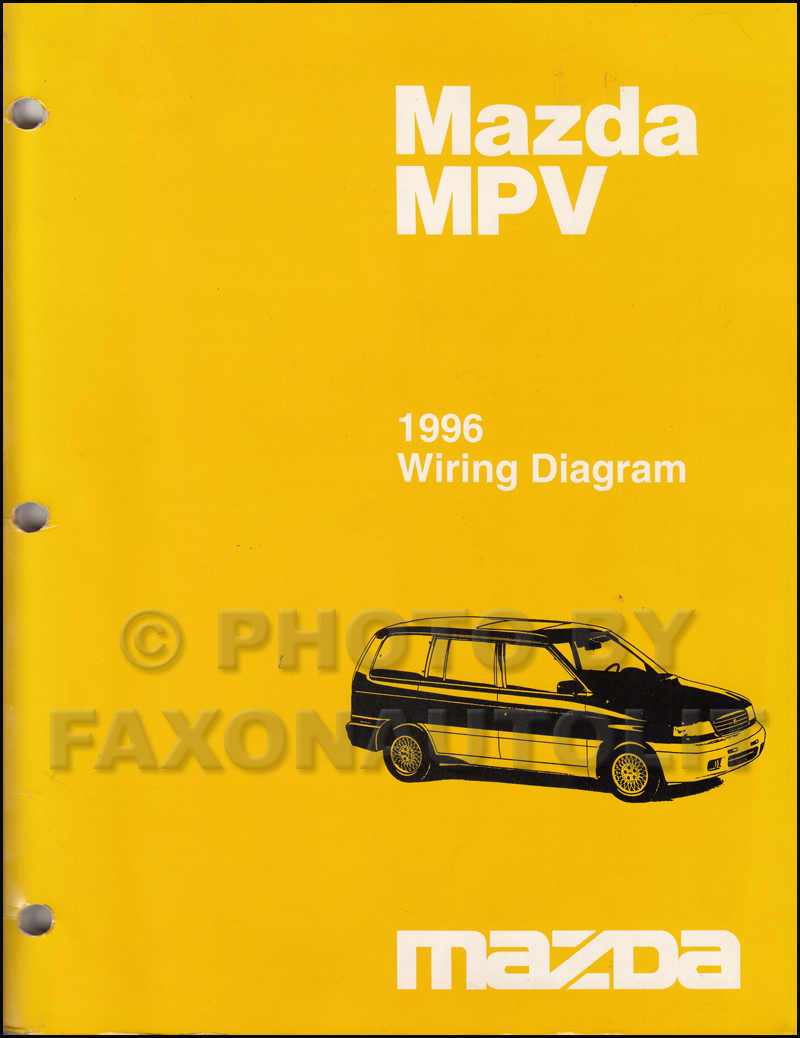 1996 Mazda MPV Wiring Diagram Manual Original