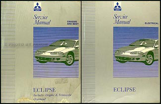1996 Mitsubishi Eclipse Repair Manual Set Original