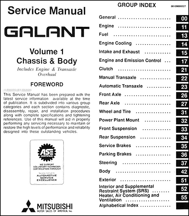 Mitsubishi galant 1997-2001 service repair manual pdf download m.