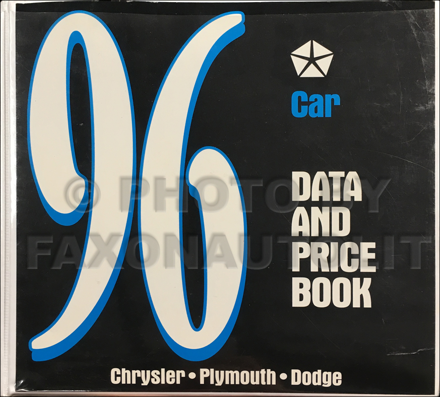 1996 MoPar Data Book Dealer Album Original Canadian