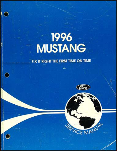 1996 Ford Mustang Shop Manual Original