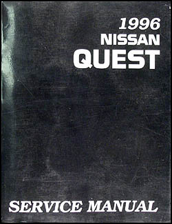 1996 Nissan Quest Van Repair Manual Original