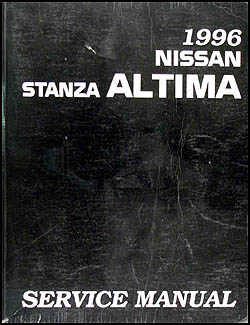 1996 Nissan Stanza Altima Repair Manual Original