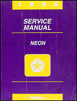 1996 Neon Shop Manual Original