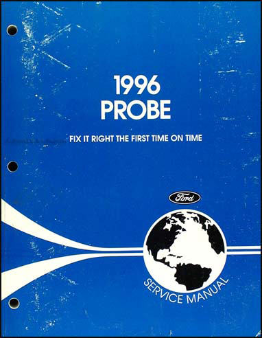 1996 Ford Probe Shop Manual Original