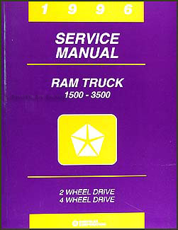 1996 Dodge Ram Truck Shop Manual Original 1500-2500-3500