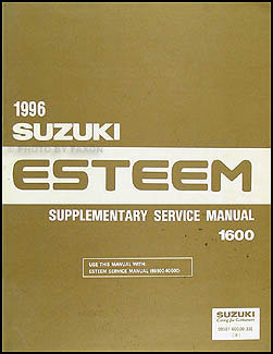 1996 Suzuki Esteem Repair Manual Supplement Original